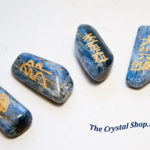 Blue Kyanite With Reiki Symbols